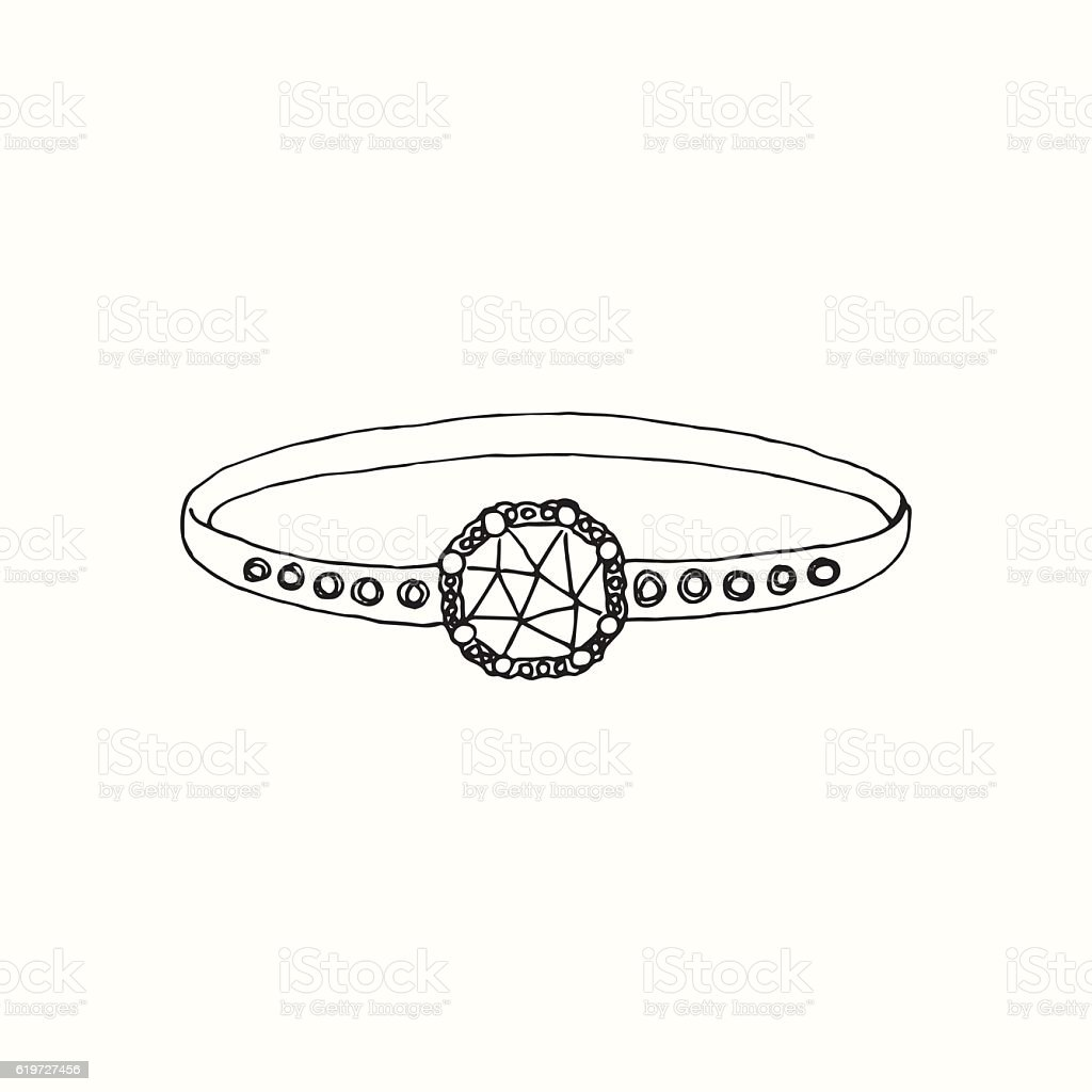 Ring Drawing vector art illustration
