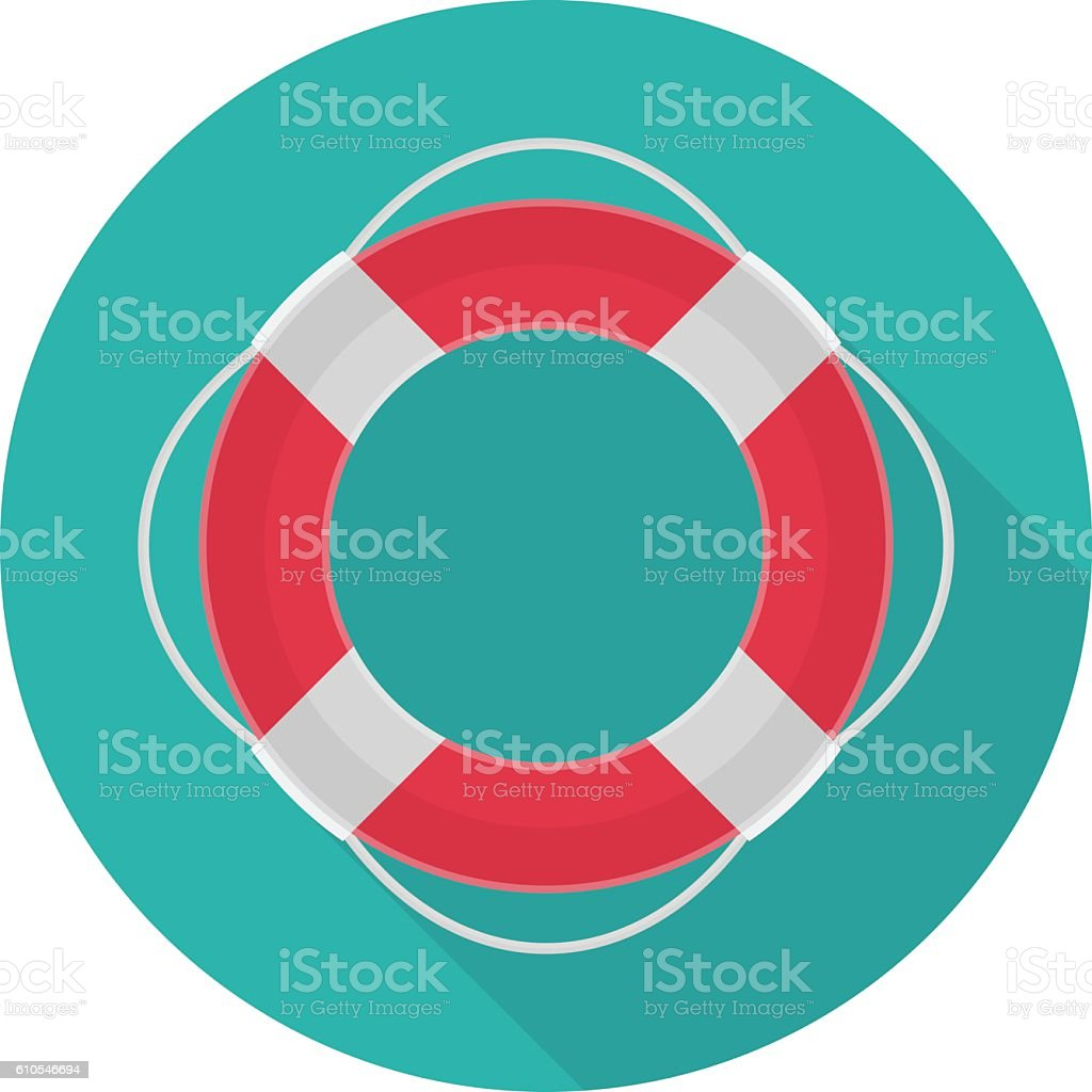 Ring lifebuoy vector icon. vector art illustration