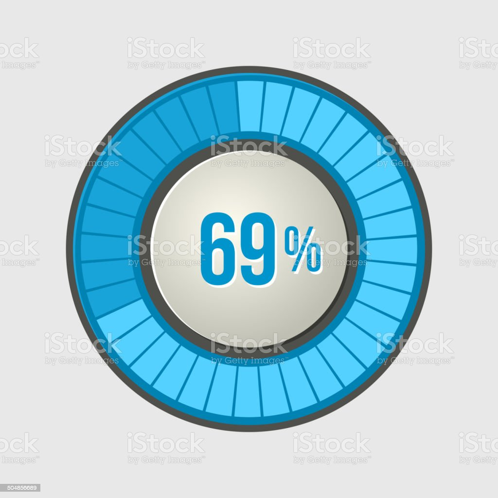 Ring Loading Progress Bar on Light Background. Vector royalty-free stock vector art