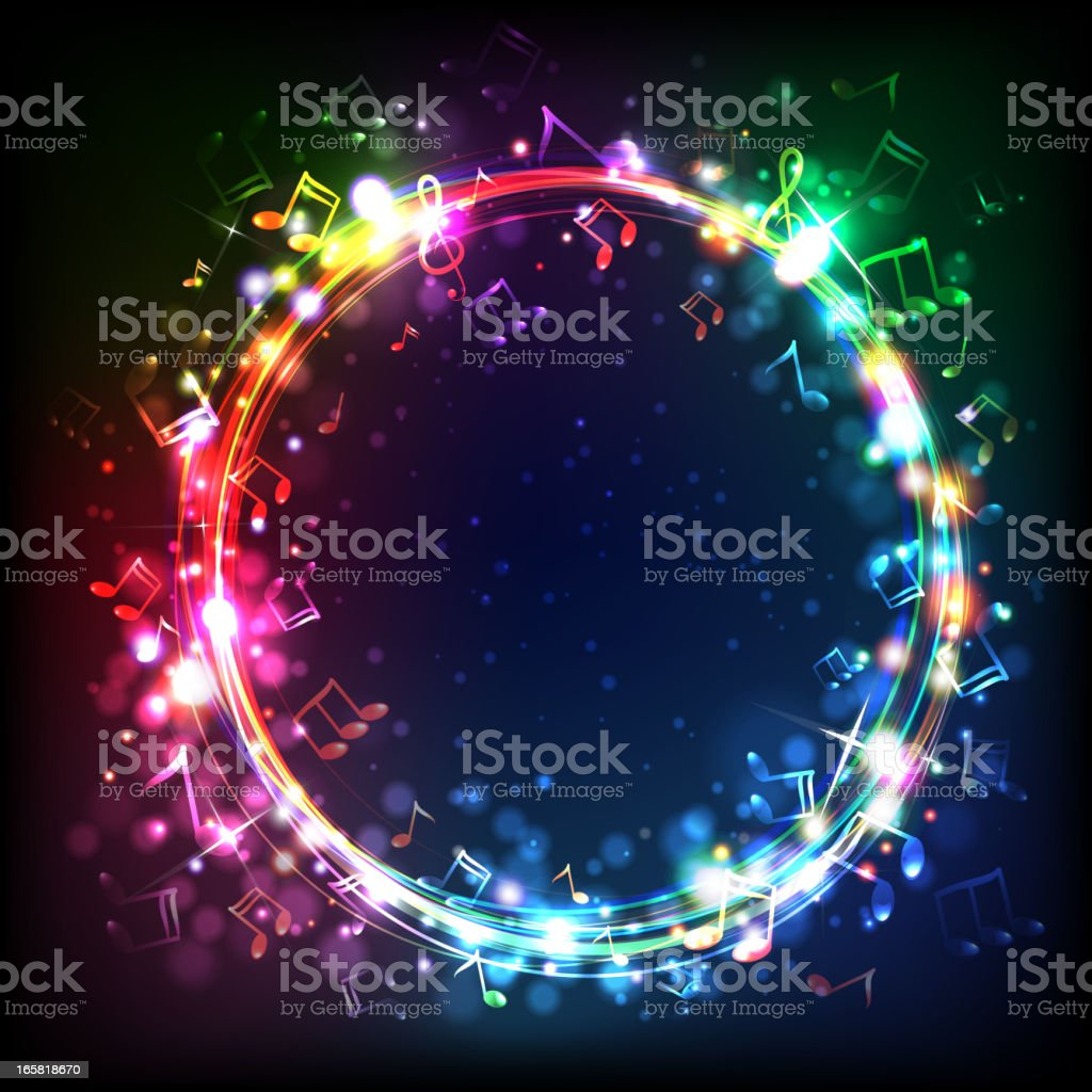 Ring of Music royalty-free stock vector art