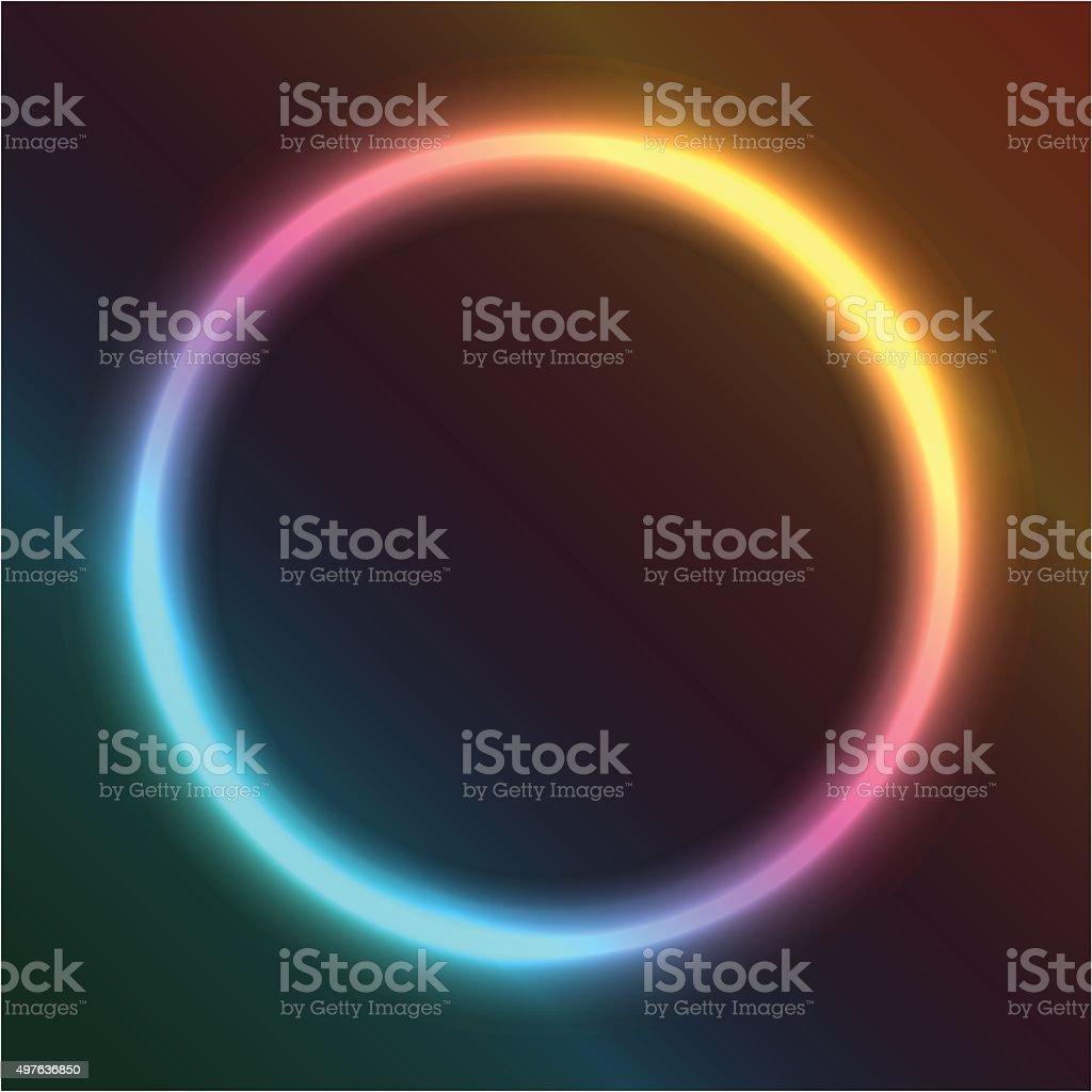 ring of neon vector art illustration