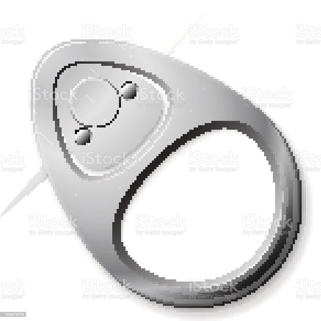Ring Pull royalty-free stock vector art