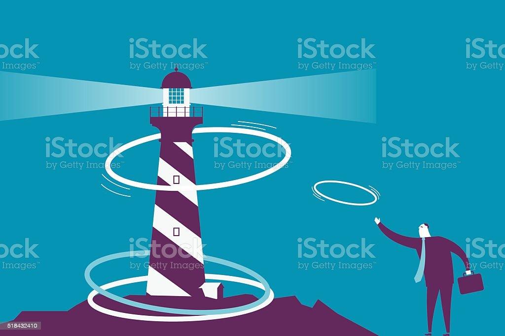 Ring Toss vector art illustration