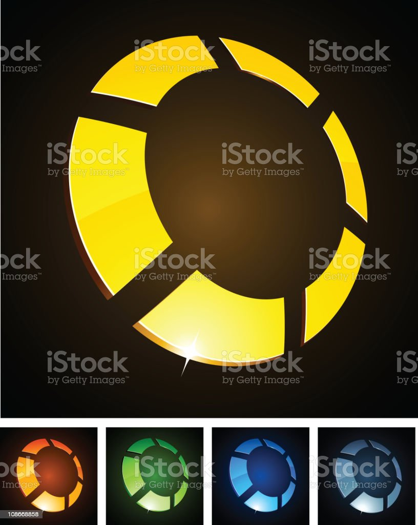 Ring vibrant signs. royalty-free stock vector art