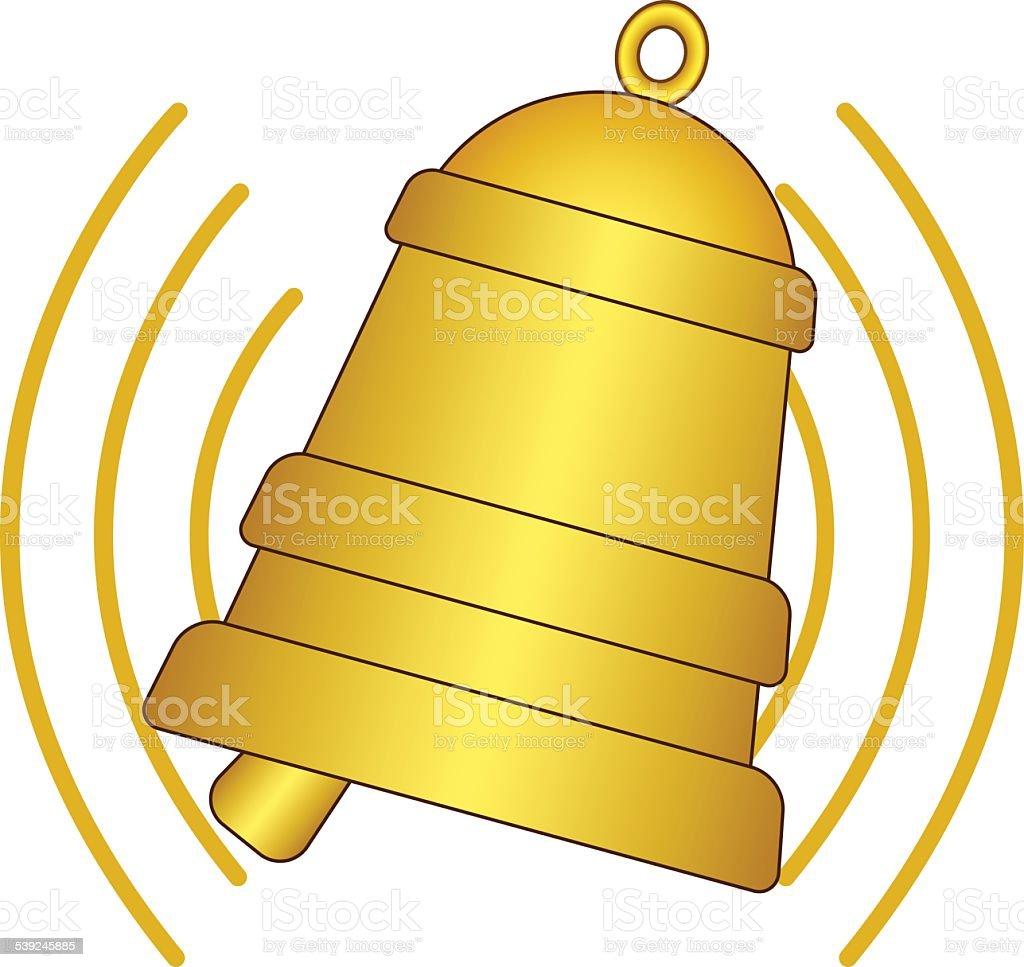 Ringing bell vector art illustration