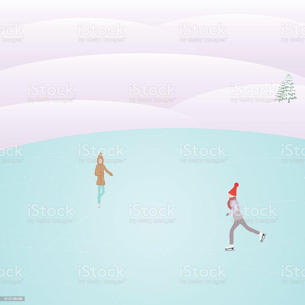 rink vector art illustration