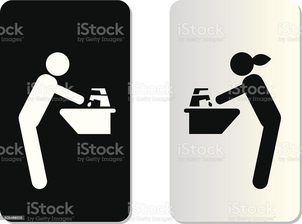 rinse symbol vector art illustration