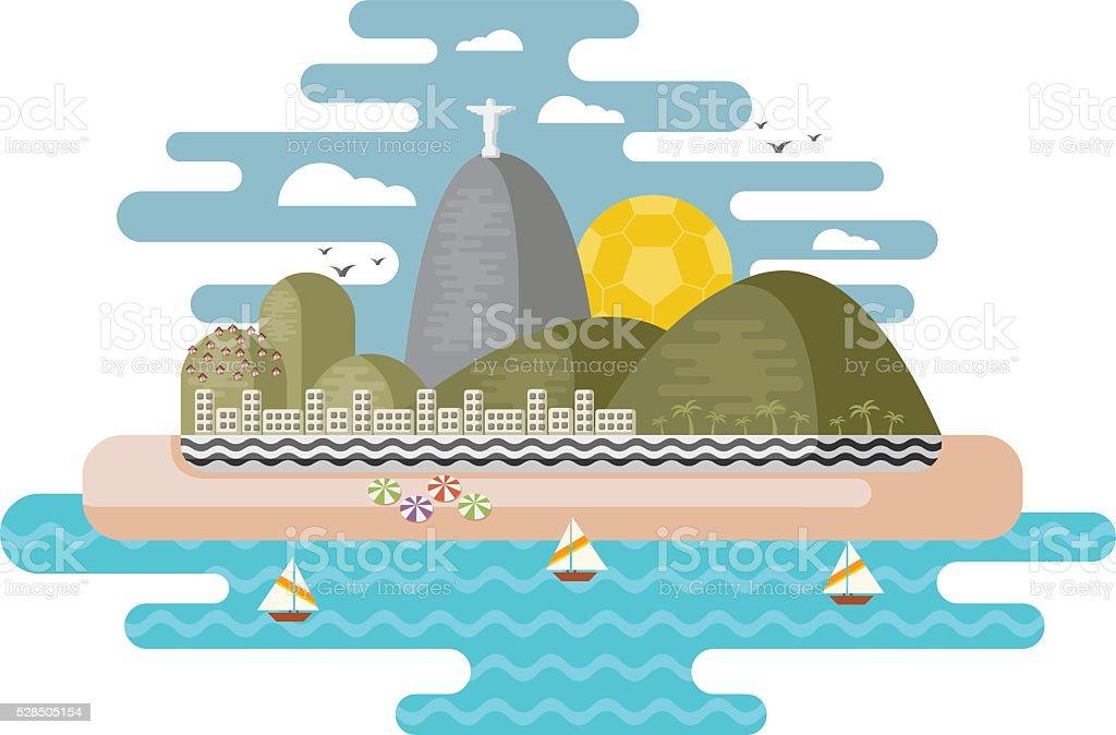 Rio de Janeiro, Brazil. vector art illustration