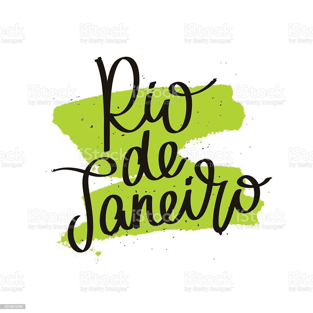 Rio de Janeiro. Calligraphy. vector art illustration