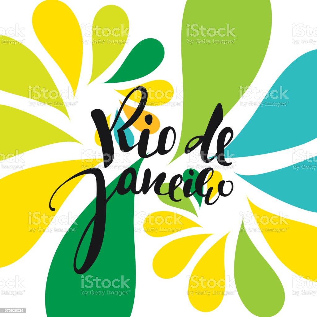 Handmade watercolor brazil flag brasil stock photos freeimages com - Rio De Janeiro Inscription Background Colors Of The Brazilian Flag Royalty Free Stock