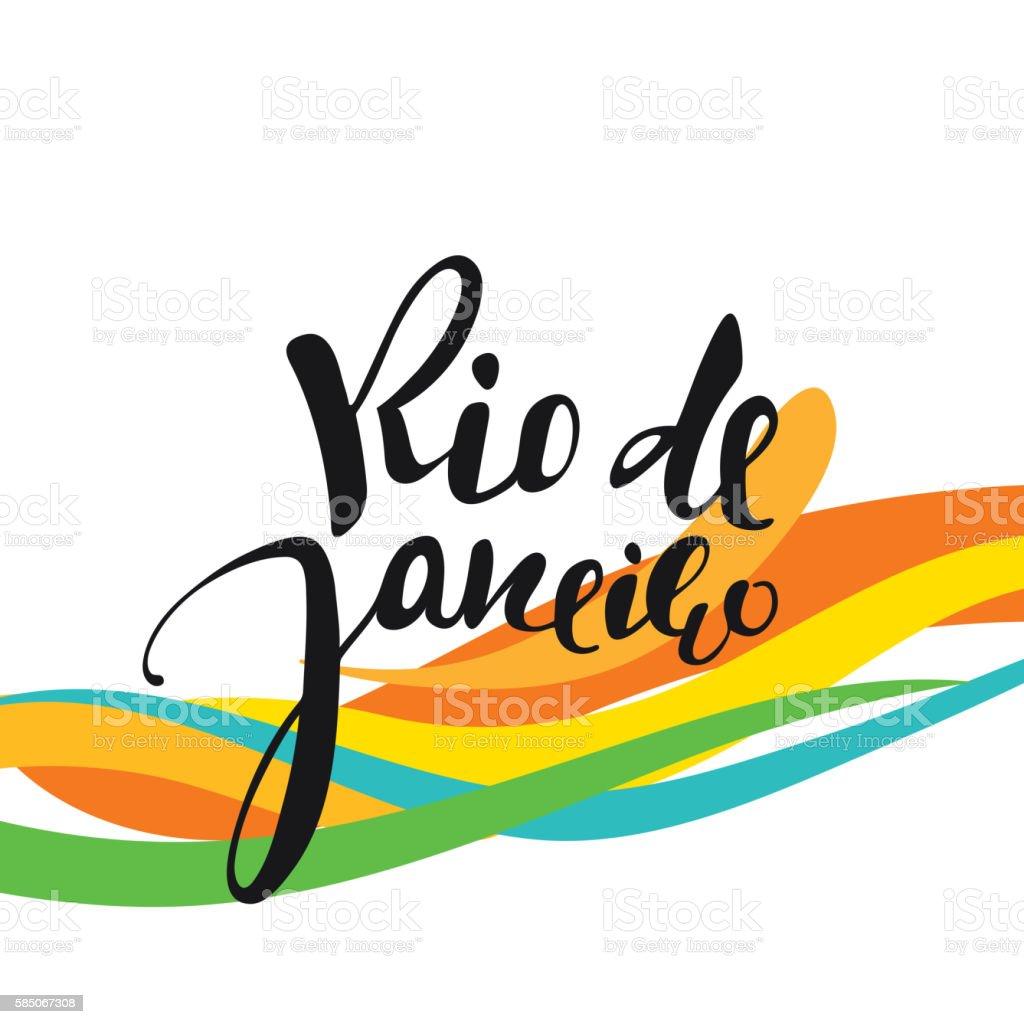 Handmade watercolor brazil flag brasil stock photos freeimages com - Rio De Janeiro Inscription Background Colors Of The Brazilian Flag