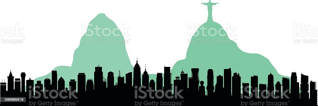 Rio De Janeiro (Each Building is Moveable and Complete) vector art illustration