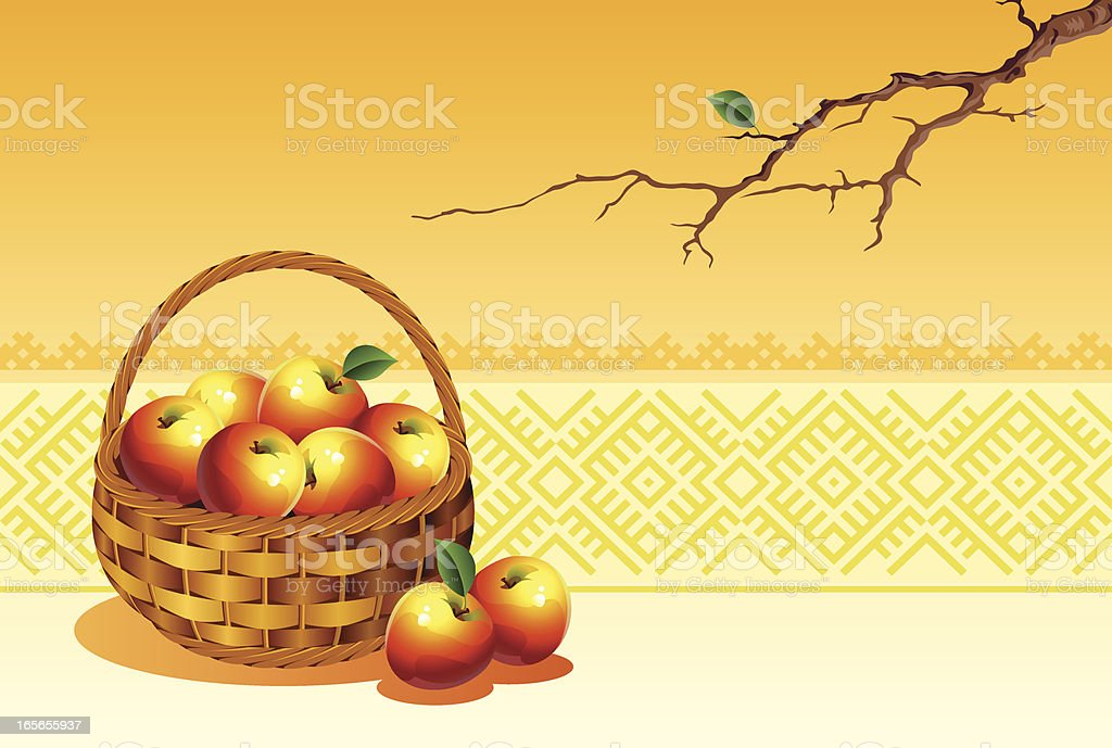 Ripe apples vector art illustration