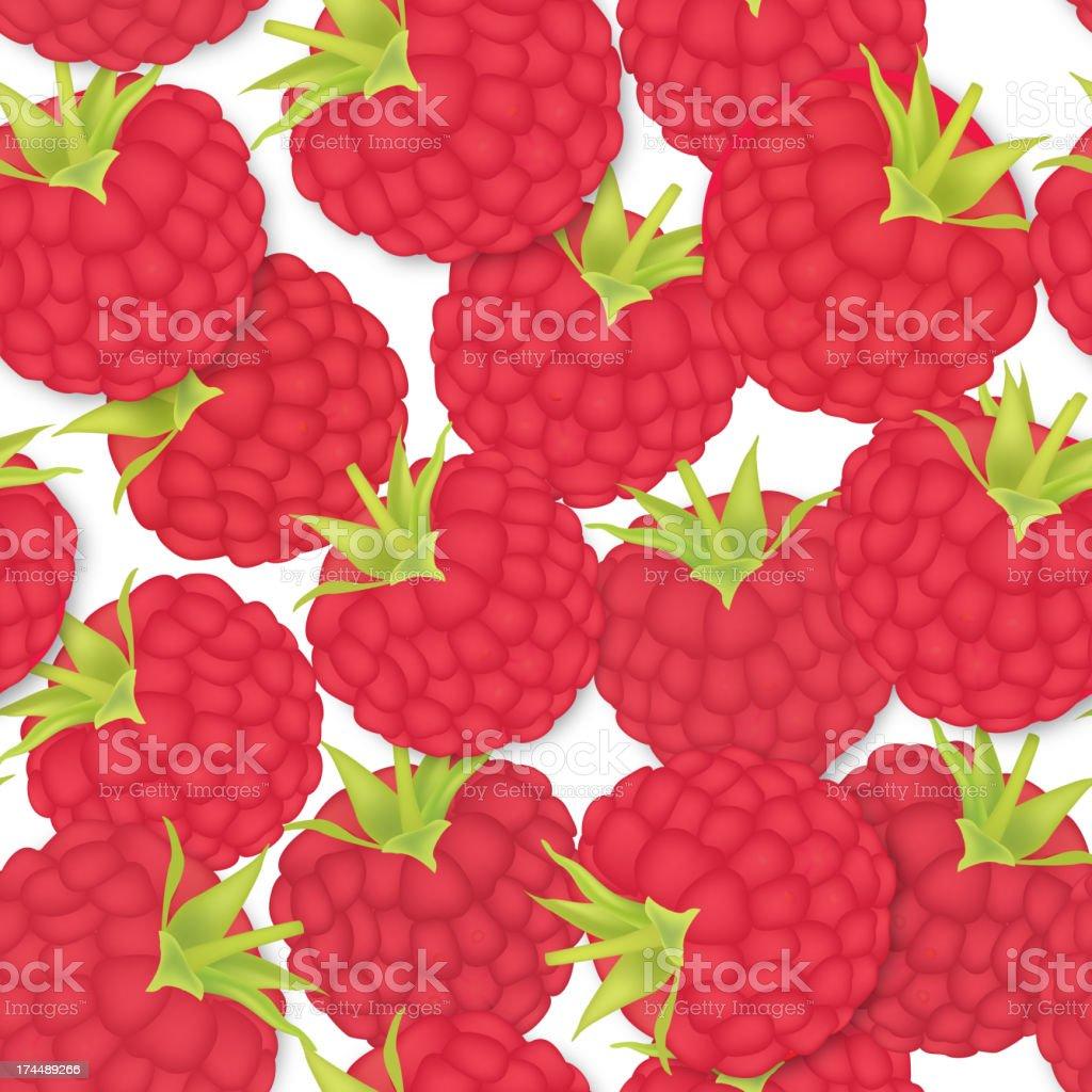 Ripe berry summer seamless pattern royalty-free stock vector art
