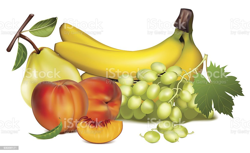 Ripe fruits and berries. royalty-free stock vector art