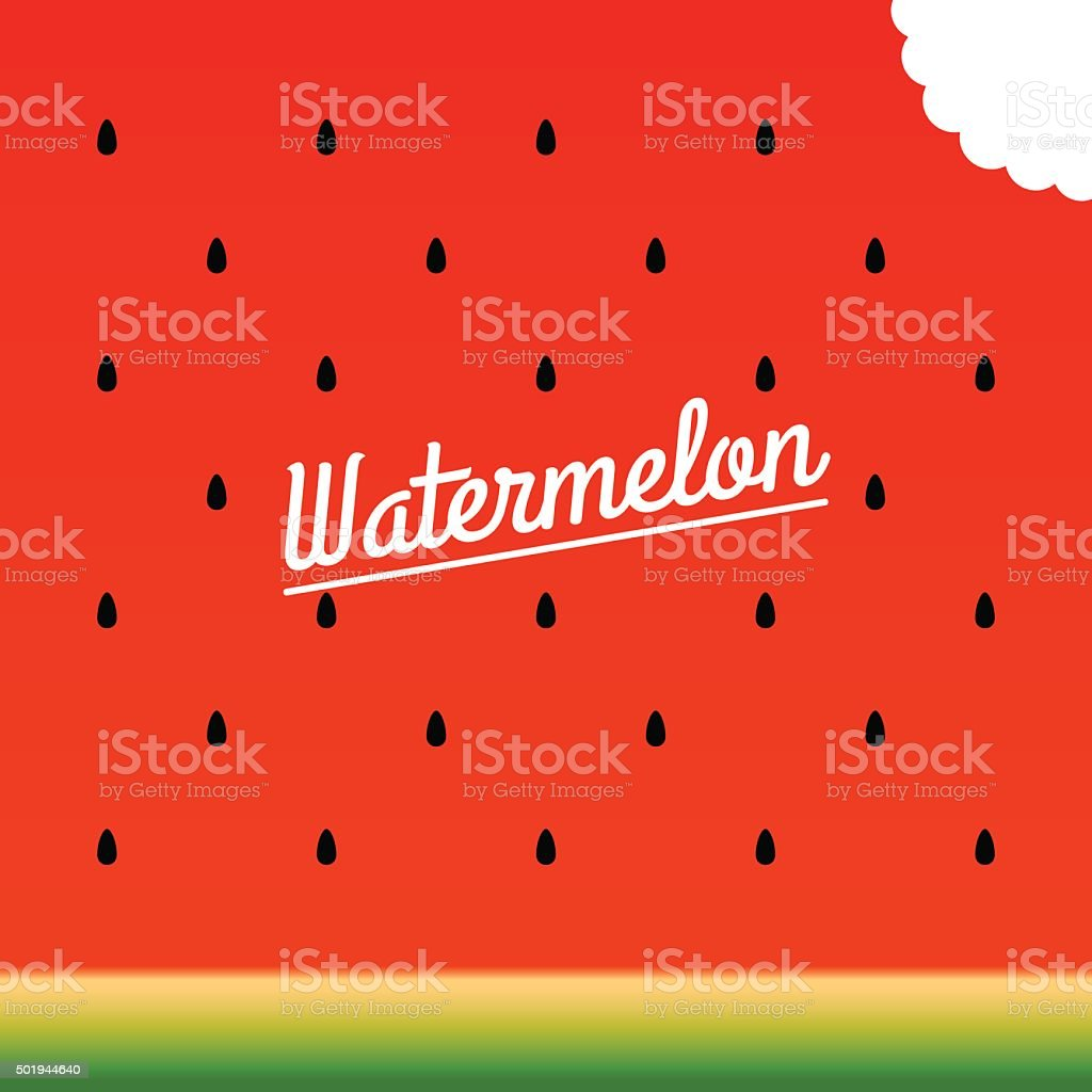 Ripe watermelon bitten piece pattern. Vector illustration. vector art illustration