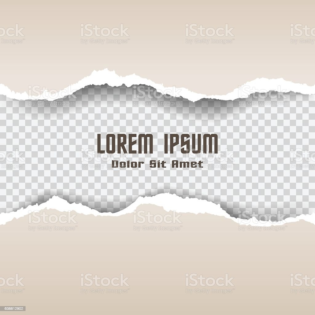 ripped old paper vector art illustration