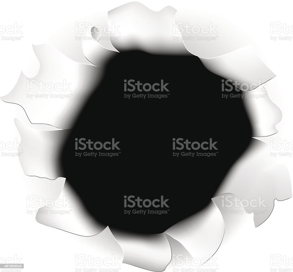 Ripped Paper Hole royalty-free stock vector art