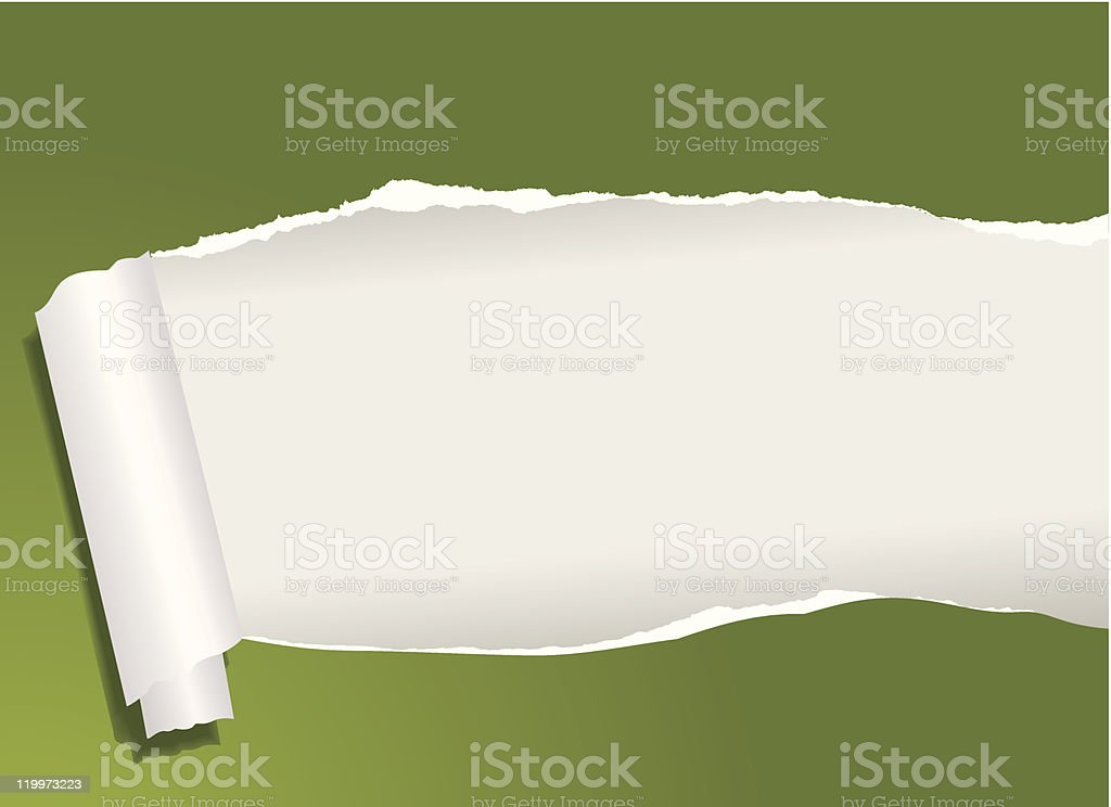 Ripped paper vector art illustration