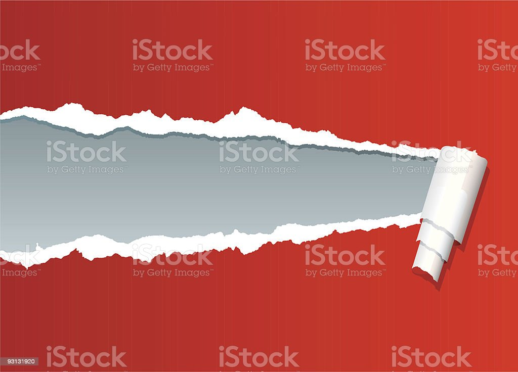 ripped red royalty-free stock vector art