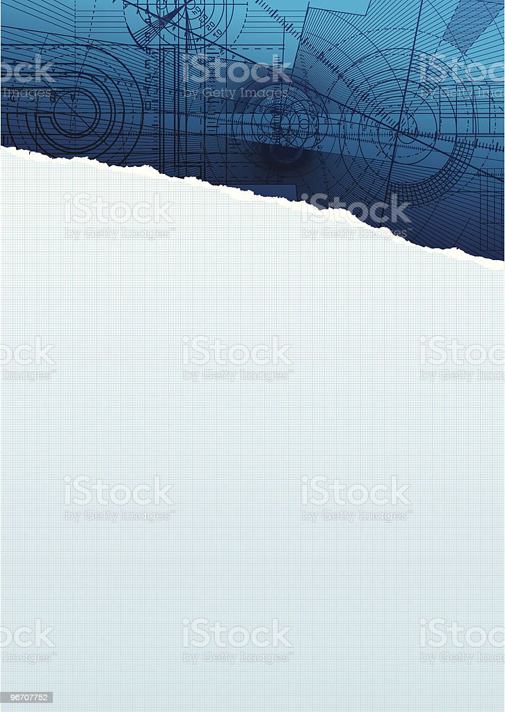 ripped sguarepaper bluepattern royalty-free stock vector art