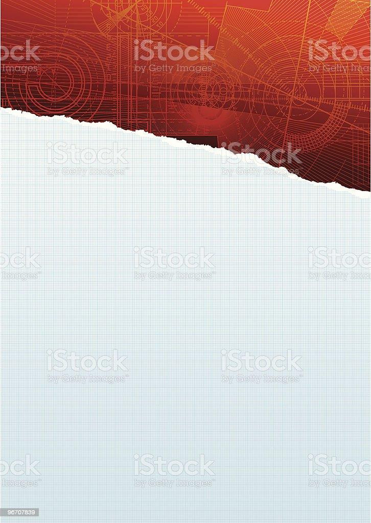 ripped squarepaper redpattern royalty-free stock vector art