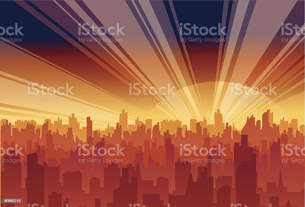 rise city royalty-free stock vector art