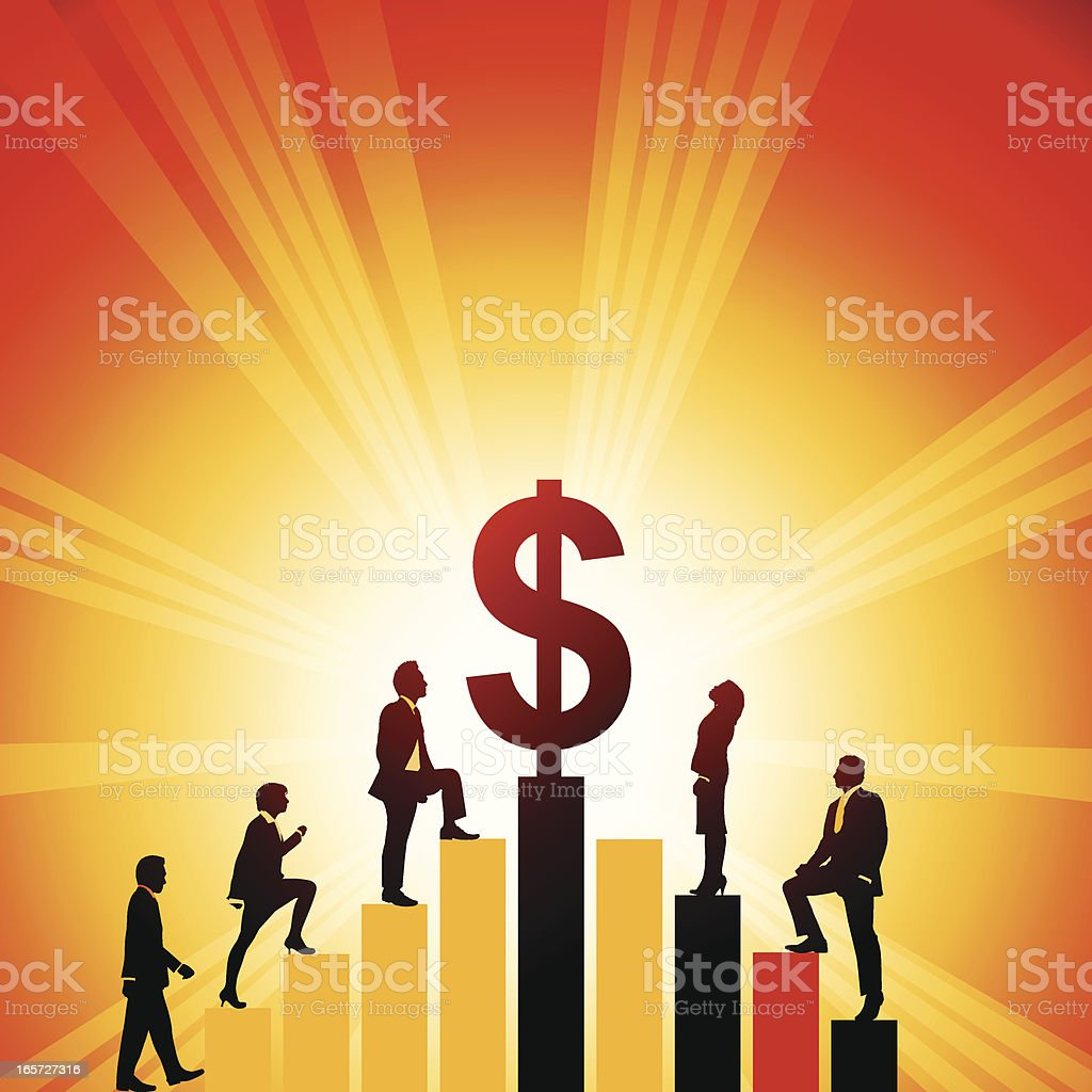 Rise of the Dollar royalty-free stock vector art
