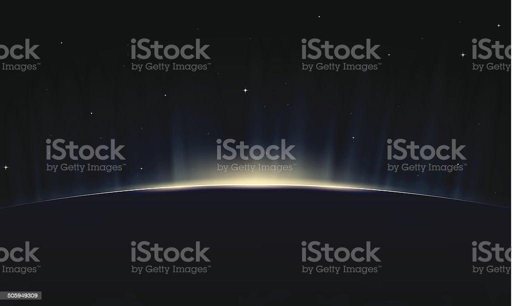 Rising Earth vector art illustration