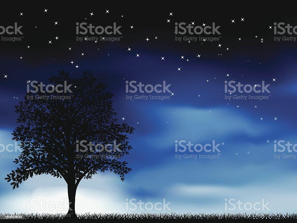 Rising Moon royalty-free stock vector art