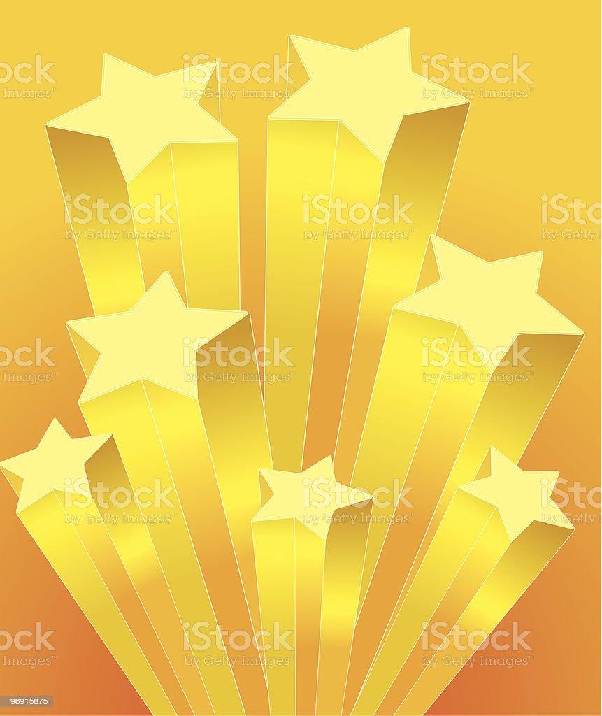 Rising Stars vector art illustration
