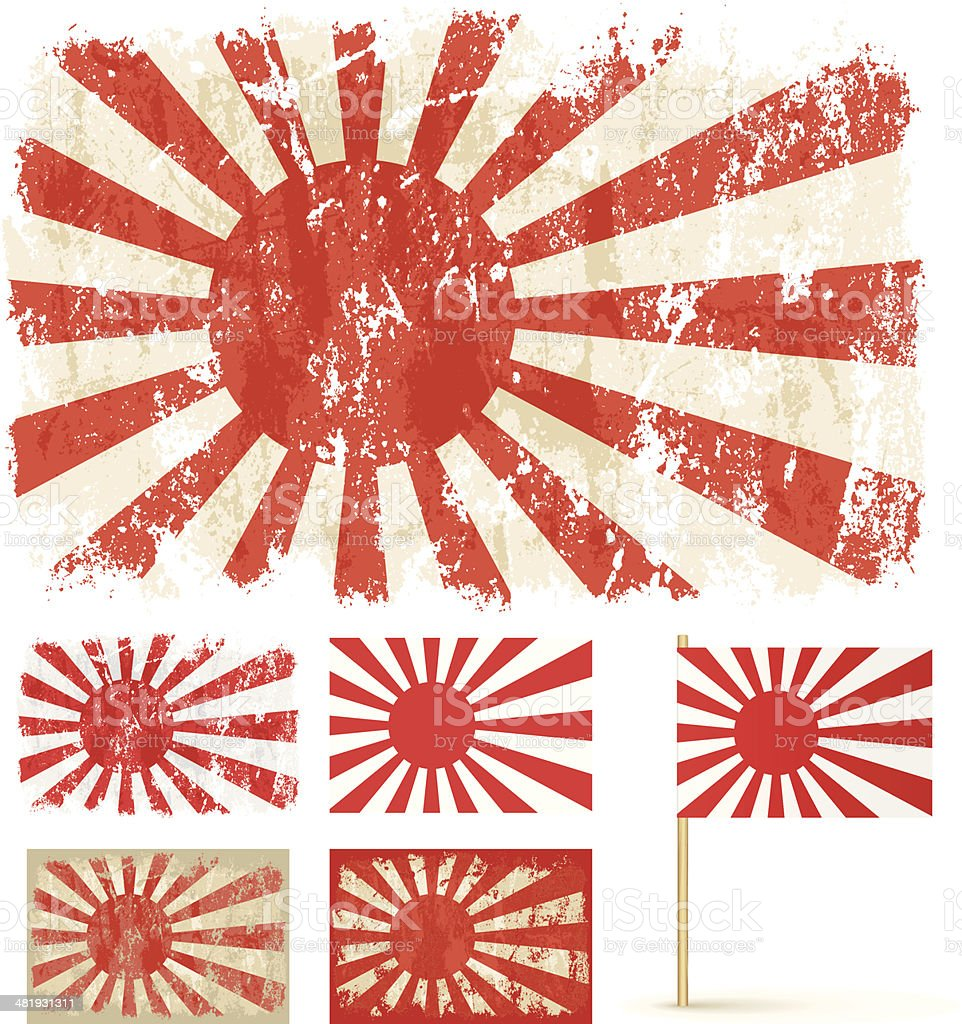 Rising Sun vector art illustration