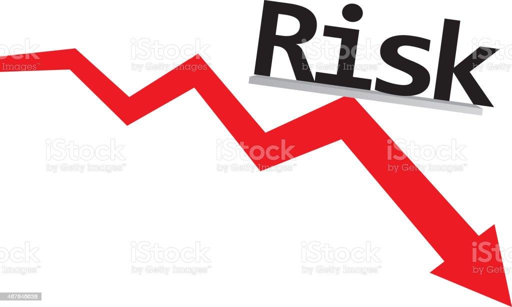 Risk decline vector art illustration