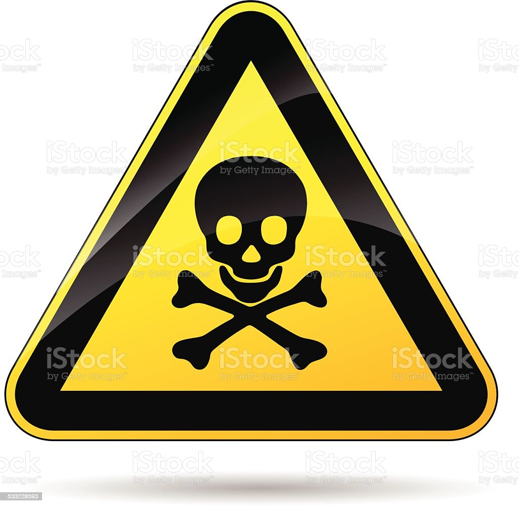 risk of dead sign vector art illustration