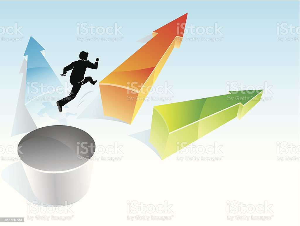 Risk Takers Leap royalty-free stock vector art