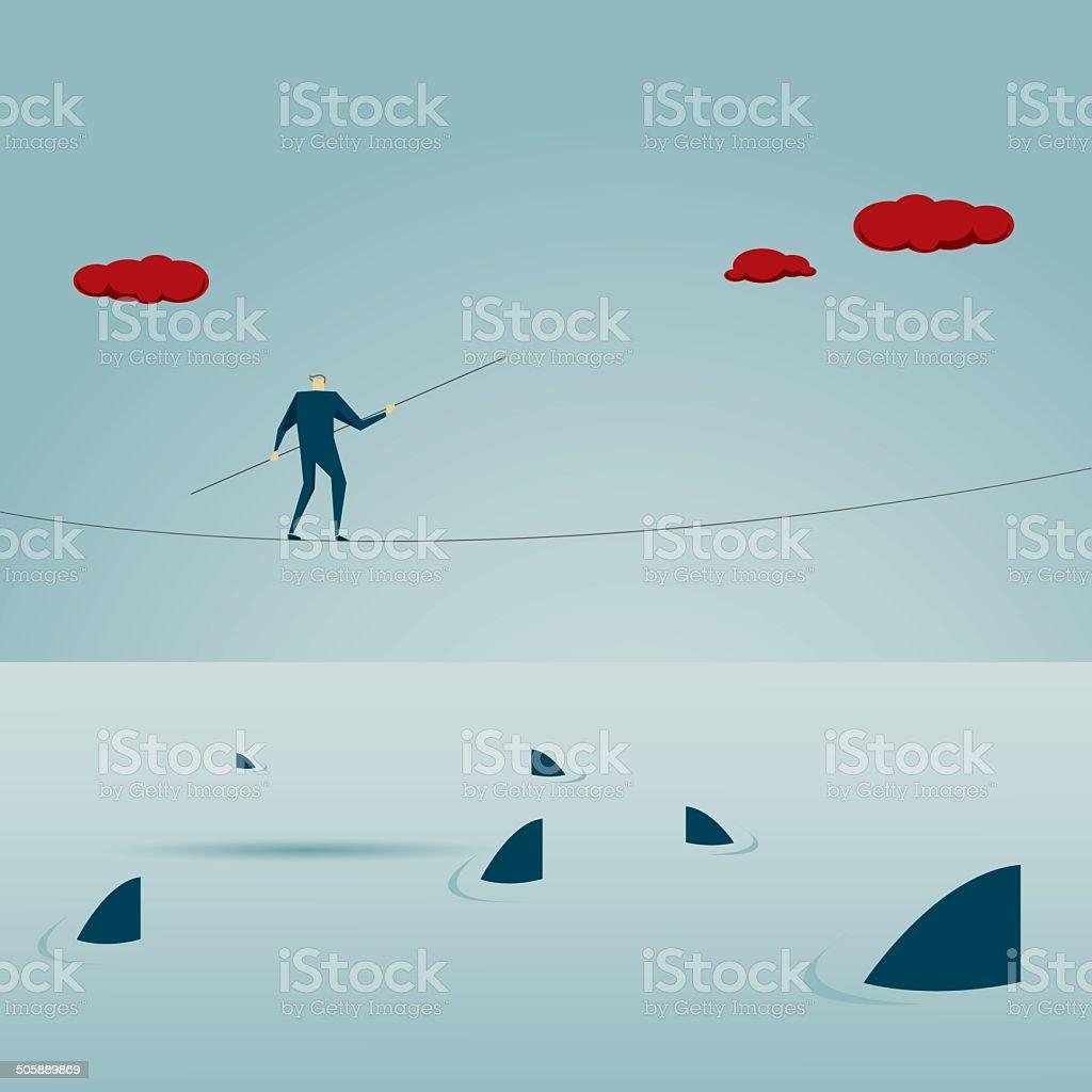 Risk vector art illustration