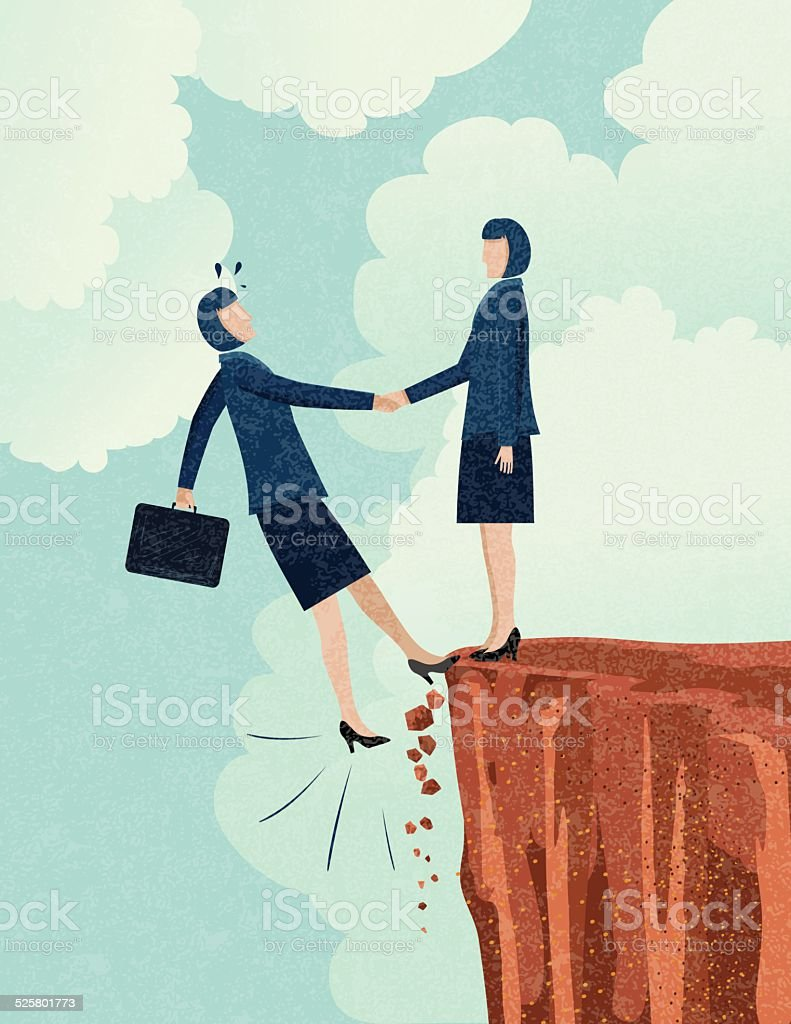 Risky Business Partnership vector art illustration