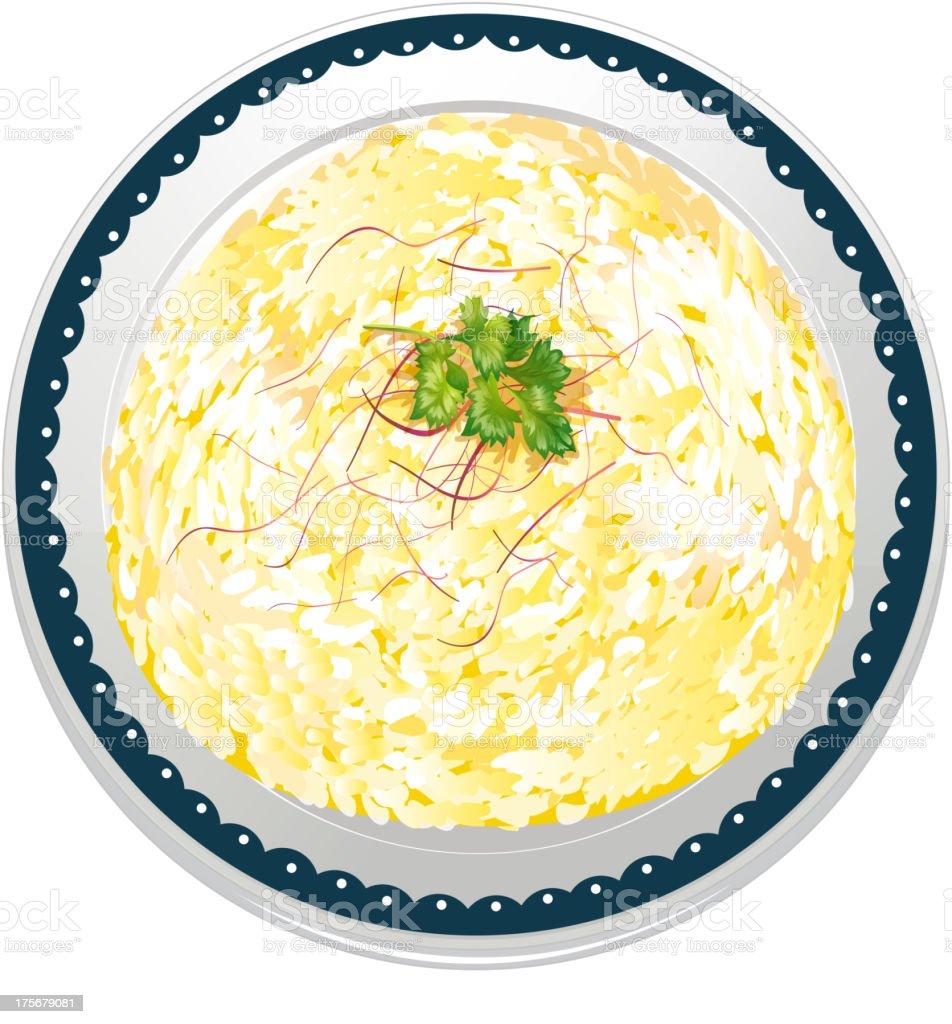 Risotto and a dish royalty-free stock vector art