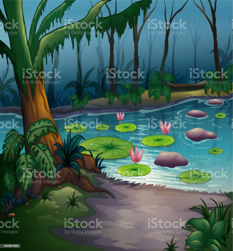 river in a beautiful nature royalty-free stock vector art