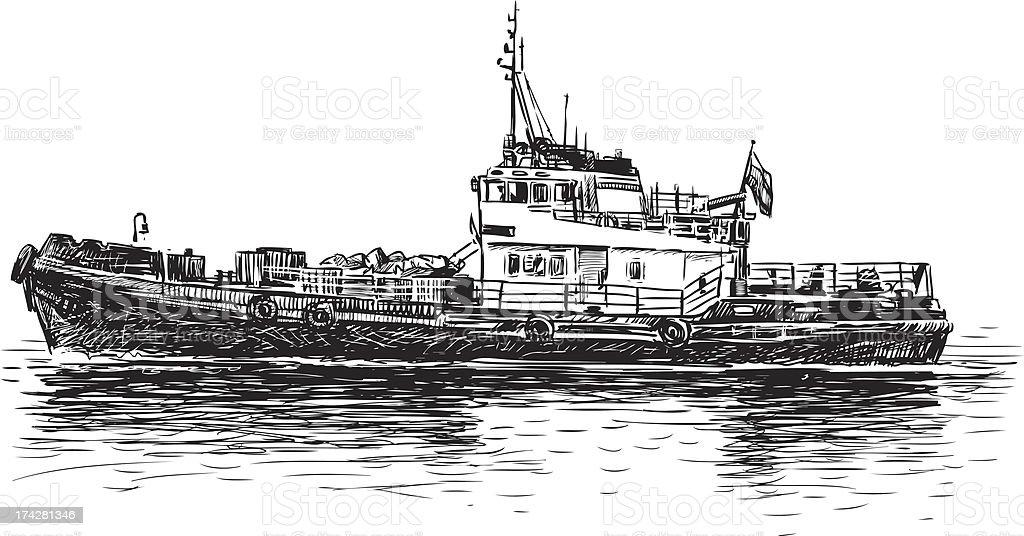 river tugboat royalty-free stock vector art