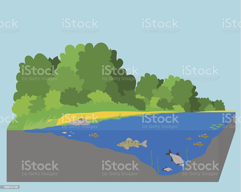 River royalty-free stock vector art