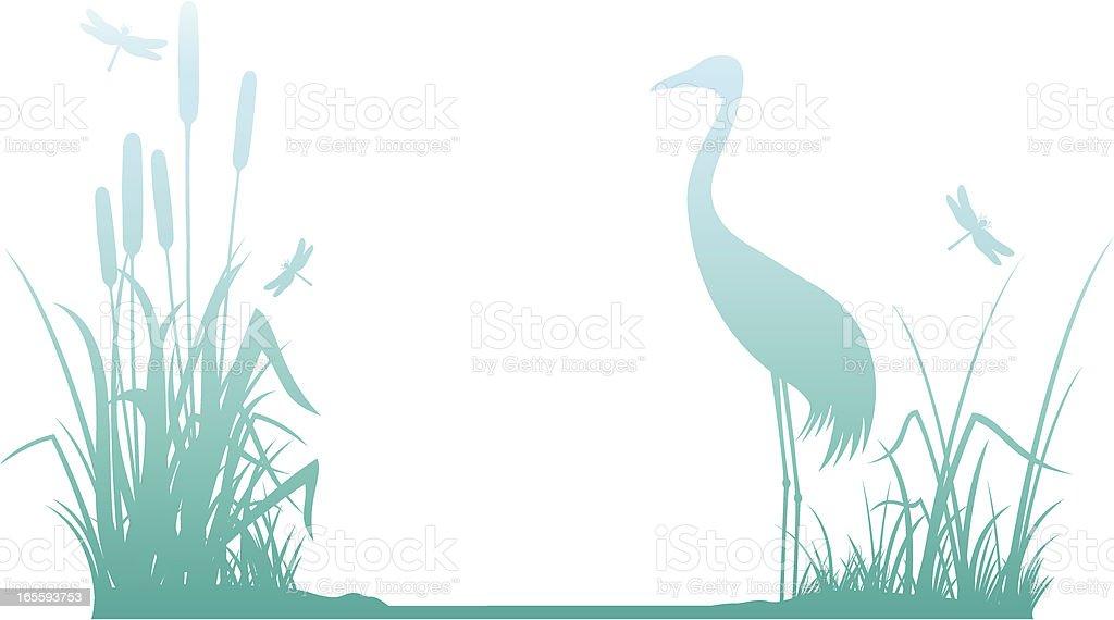 Riverbank vector art illustration