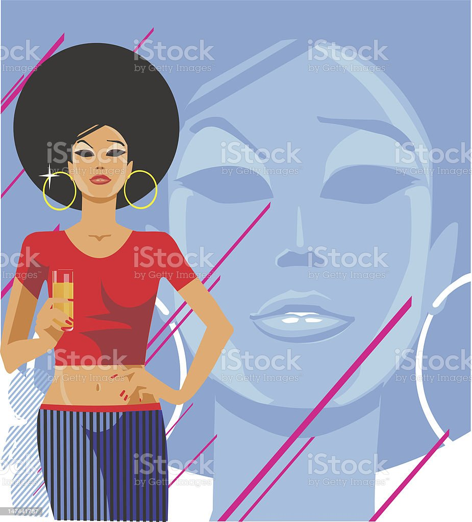 Rnb Girl royalty-free stock vector art