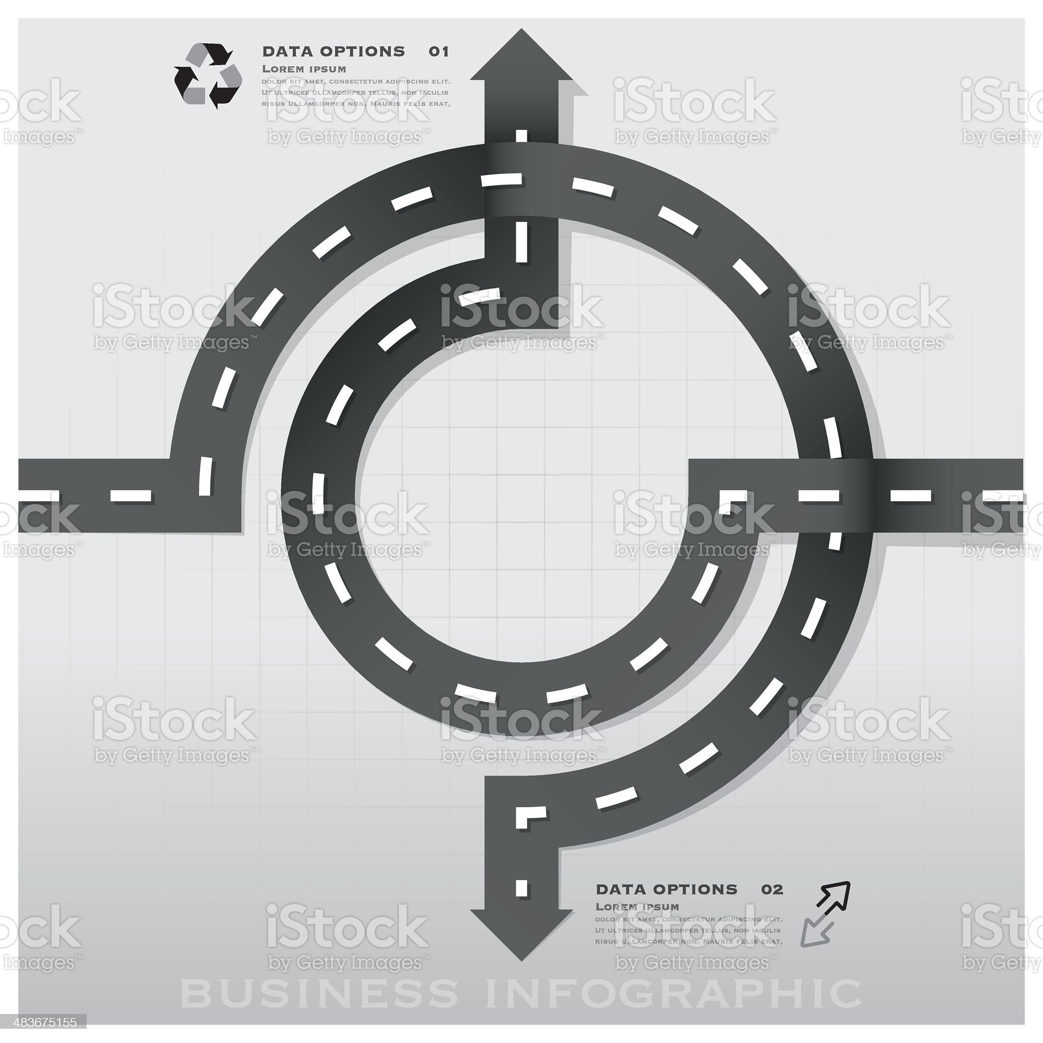 Road And Street Traffic Sign Business Infographic Design Template royalty-free stock vector art