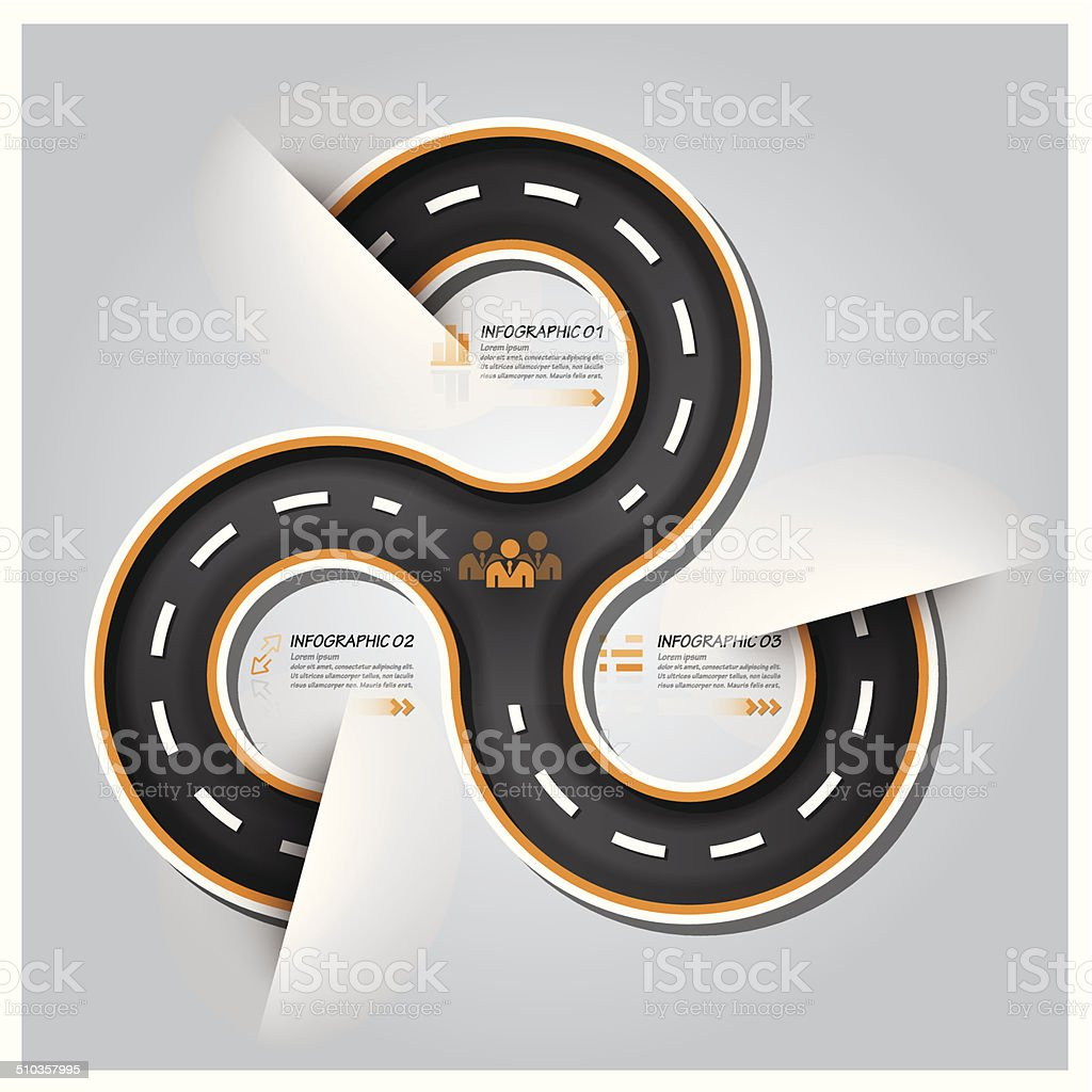 Road And Street Traffic Sign Business Infographic vector art illustration