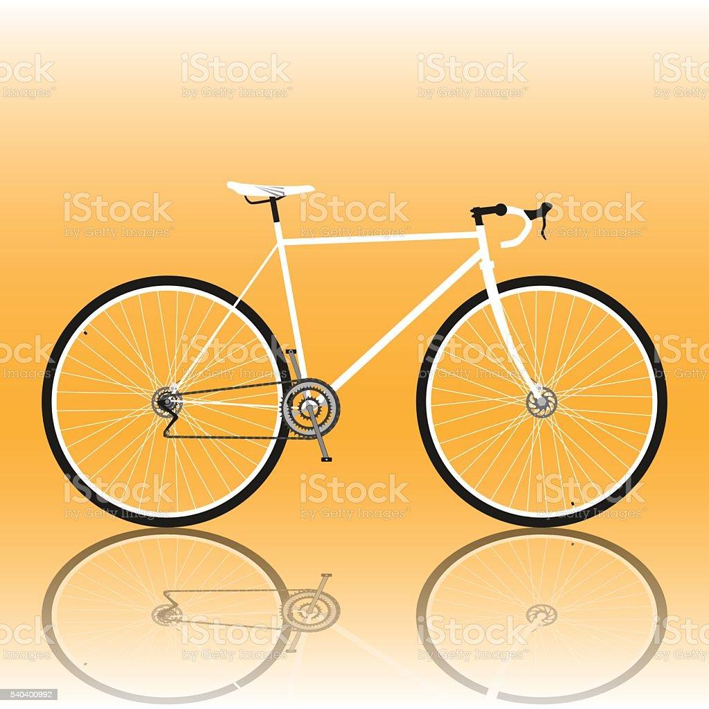 Road bike vector art illustration