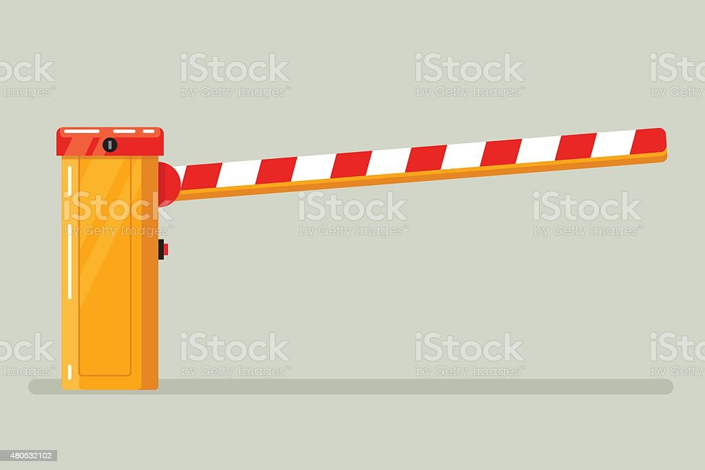 Road classical  barrier sign vector art illustration