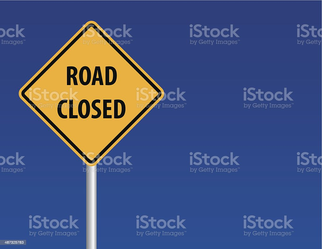 Road Closed Sign royalty-free stock vector art