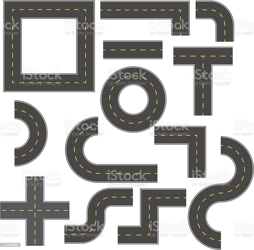 Road construction kit vector art illustration