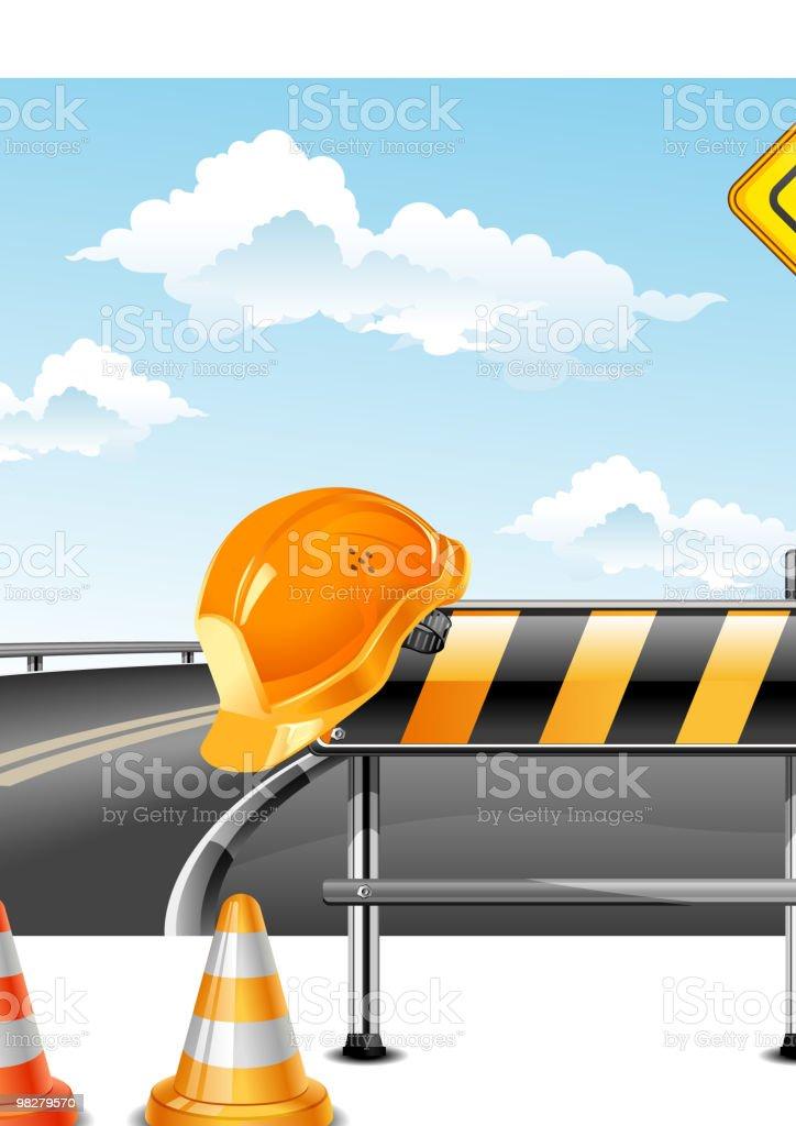 Road construction royalty-free stock vector art